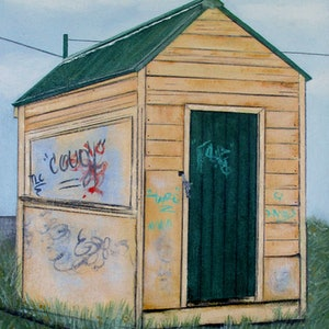(CreativeWork) Abandoned - Moss Vale by Pauline Bailey. arcylic-painting. Shop online at Bluethumb.