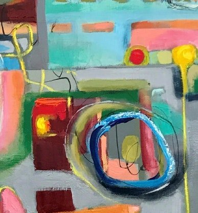 (CreativeWork) Beyond the Walls by Ann Rayment. Mixed Media. Shop online at Bluethumb.