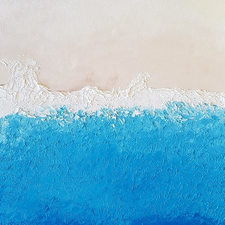 (CreativeWork) Tide - Nudey Beach No.1 by John Lee. Oil Paint. Shop online at Bluethumb.