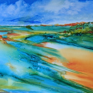 (CreativeWork) AFTER THE RAIN by Myffie Coady. arcylic-painting. Shop online at Bluethumb.