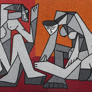 (CreativeWork) Cornered Emotions by Karl Holland. arcylic-painting. Shop online at Bluethumb.
