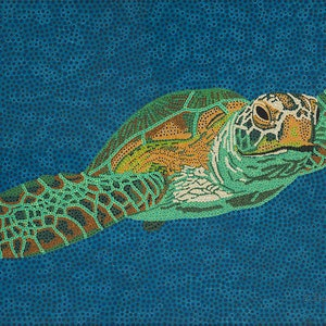 (CreativeWork) Northwest Turtle by Karl Holland. acrylic-painting. Shop online at Bluethumb.