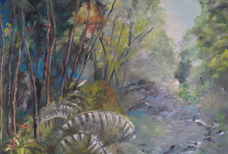 (CreativeWork) CHRISTMAS CREEK by chantal kwast-greff. oil-painting. Shop online at Bluethumb.