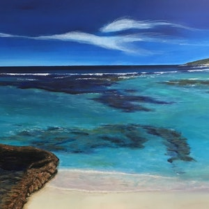 (CreativeWork) Yallingup Reef by Di Parsons. arcylic-painting. Shop online at Bluethumb.