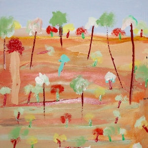 (CreativeWork) AUSTRALIAN OUTBACK 22 by DEREK ERSKINE. oil-painting. Shop online at Bluethumb.