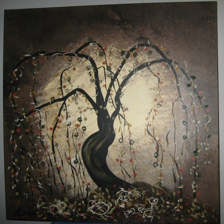 (CreativeWork) Tree of Life  Lynne Pickering by Lynne ( Dorothy Lynne) Pickering. Acrylic Paint. Shop online at Bluethumb.