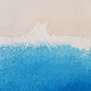 (CreativeWork) Tide - Nudey Beach No.2 by John Lee. oil-painting. Shop online at Bluethumb.