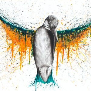 (CreativeWork) Divine Rising by Ashvin Harrison. arcylic-painting. Shop online at Bluethumb.