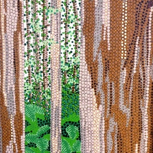 (CreativeWork) Looking through Karri Forest from Caves Road. by Karl Holland. arcylic-painting. Shop online at Bluethumb.