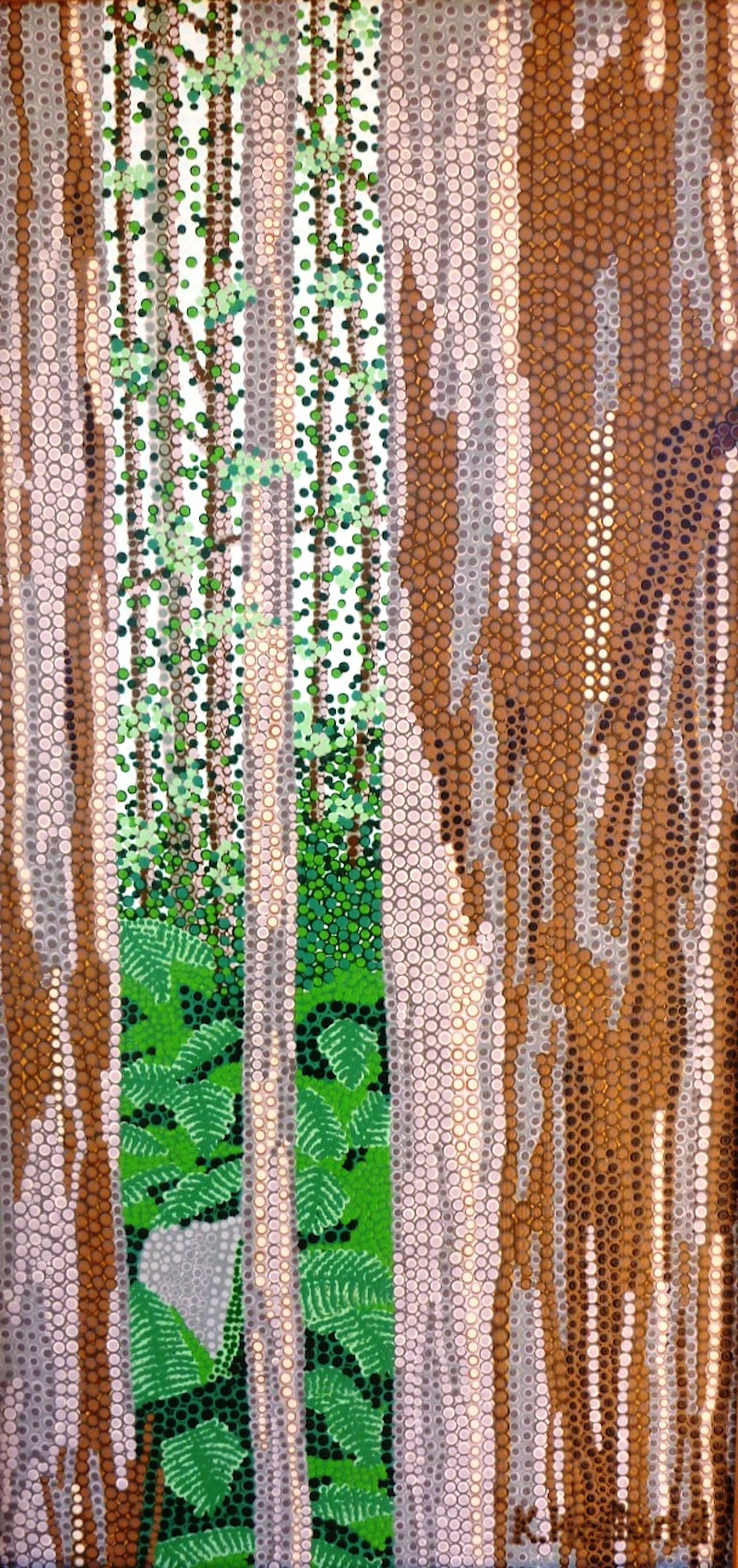 (CreativeWork) Looking through Karri Forest from Caves Road. by Karl Holland. acrylic-painting. Shop online at Bluethumb.
