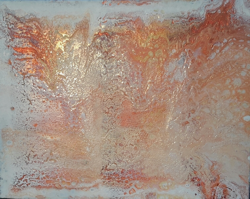(CreativeWork) Sunset -#4 in the Metallic Collection   by DRM Vance. arcylic-painting. Shop online at Bluethumb.