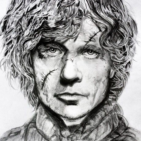 (CreativeWork) Tyrion Lannister by Ahmed Al-zoubeidi. Drawings. Shop online at Bluethumb.