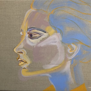 (CreativeWork) Victoria  by Carla Foster. oil-painting. Shop online at Bluethumb.