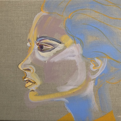 (CreativeWork) Victoria  by Carla Foster. Oil Paint. Shop online at Bluethumb.