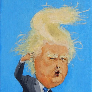 (CreativeWork) Trump-Pie   by ying huang. print. Shop online at Bluethumb.
