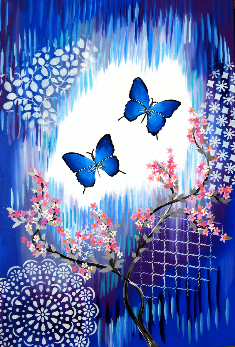 (CreativeWork) Butterfly Dream by Cathy Snow. arcylic-painting. Shop online at Bluethumb.