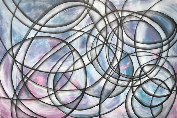 (CreativeWork) Abstract CZ17020 by Carol Zsolt. Acrylic Paint. Shop online at Bluethumb.