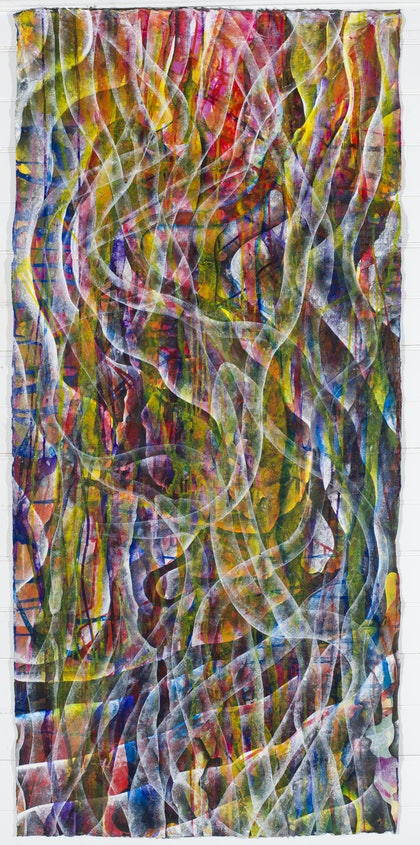 (CreativeWork) Going With The Flow by (Atol) Bertrand Dupuche. arcylic-painting. Shop online at Bluethumb.