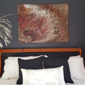 (CreativeWork) Outback from space by Diane Shallis. mixed-media. Shop online at Bluethumb.