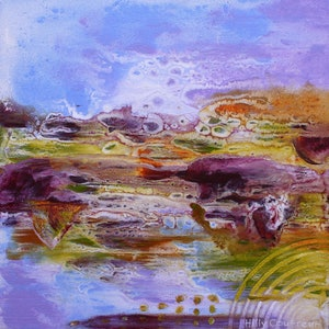 (CreativeWork) Wetlands 22 by Hilly Coufreur. arcylic-painting. Shop online at Bluethumb.
