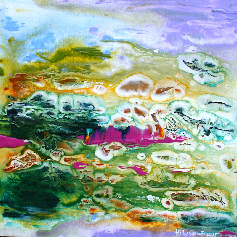 (CreativeWork) Wetlands 26 by Hilly Coufreur. arcylic-painting. Shop online at Bluethumb.