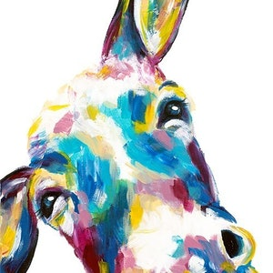 (CreativeWork) Wonky Donkey by Jaclyn McDougall. arcylic-painting. Shop online at Bluethumb.