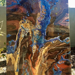 (CreativeWork) The Heart Of Opal Mining by Jenny Petracca. mixed-media. Shop online at Bluethumb.