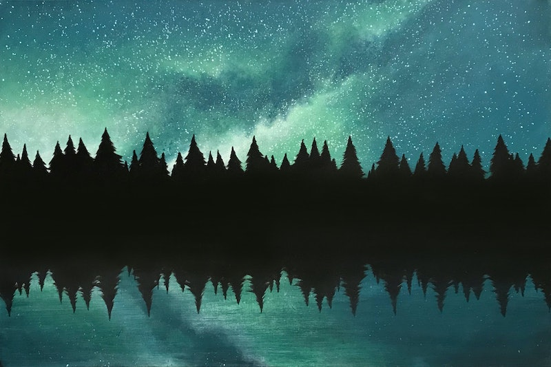 Night Sky Reflections By Erin Hale