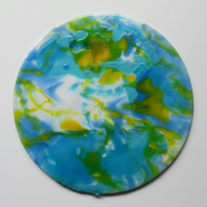 (CreativeWork) Tropicana by Caitlin Pluta. resin. Shop online at Bluethumb.