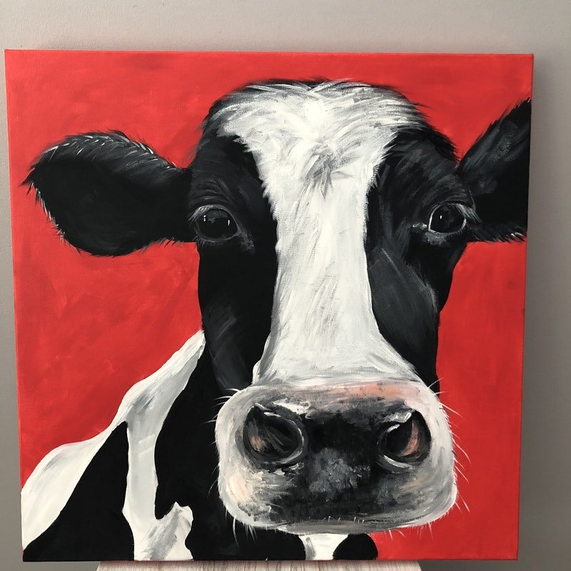Gorgeous George  Cow painting