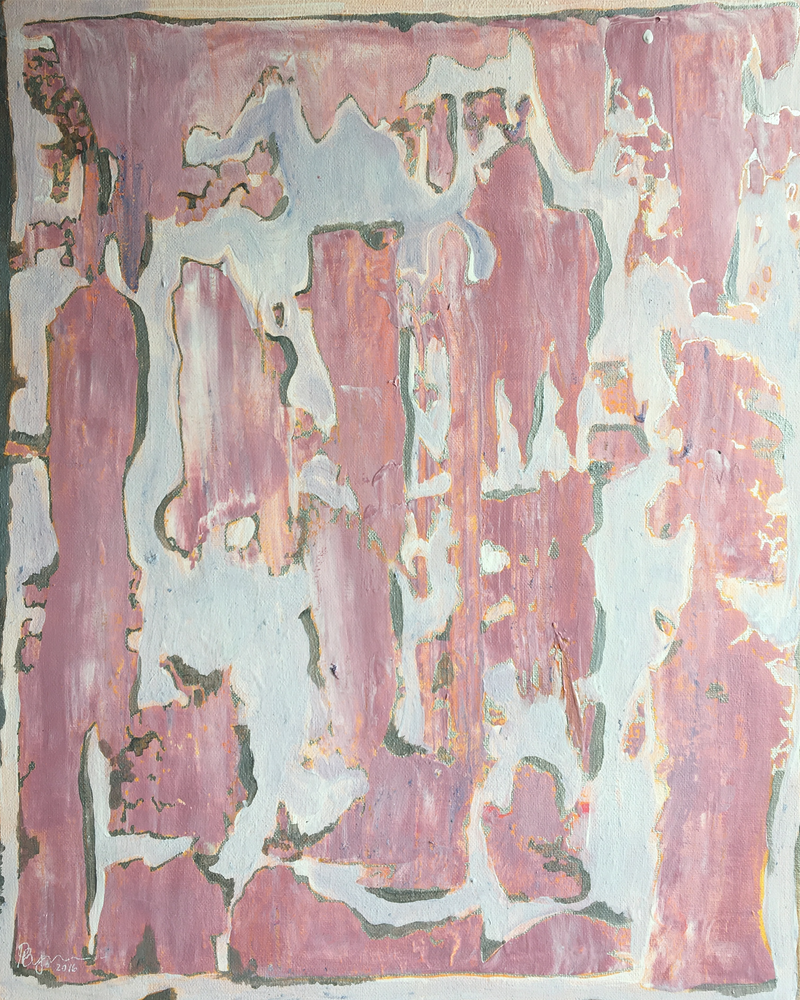 (CreativeWork) behind the wallpaper by Paige Byers. arcylic-painting. Shop online at Bluethumb.
