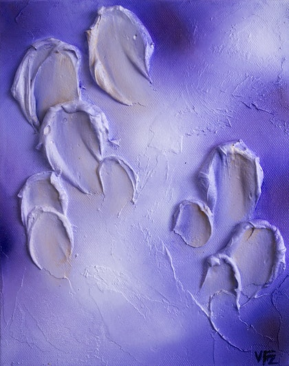 (CreativeWork) Lilac Petals by Victoria FitzGerald. mixed-media. Shop online at Bluethumb.