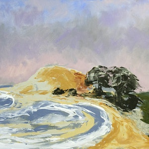 (CreativeWork) Summer Dawn ( The point , Crescent Head ) by Scott Jackson. acrylic-painting. Shop online at Bluethumb.