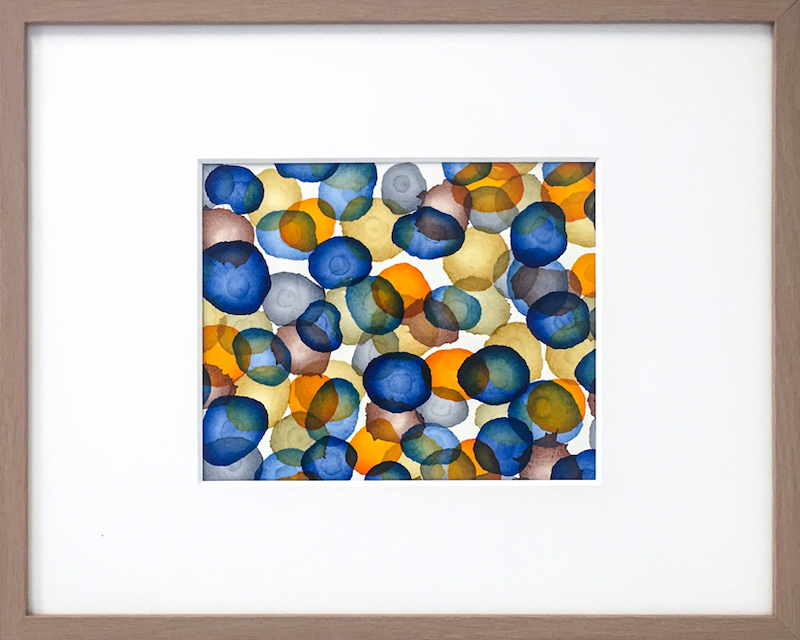 (CreativeWork) Life Field – Blue Drift I   by Jacquelyn Stephens. mixed-media. Shop online at Bluethumb.