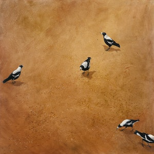 (CreativeWork) Magpie landscape Ed. 15 of 20 by Rod BAX. print. Shop online at Bluethumb.