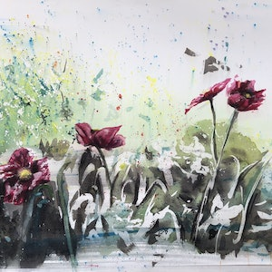 (CreativeWork) Spring by Sarah Poyser. watercolour. Shop online at Bluethumb.