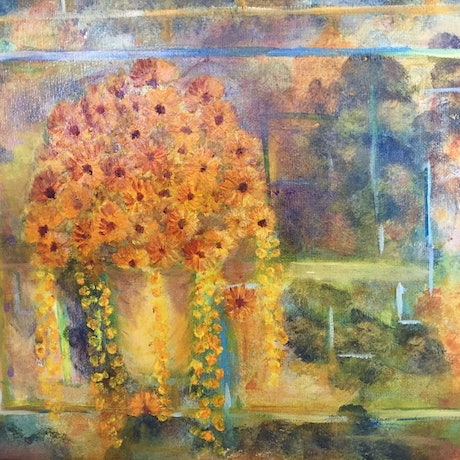(CreativeWork) Golden Touch by Deidre Ogilvie. Mixed Media. Shop online at Bluethumb.