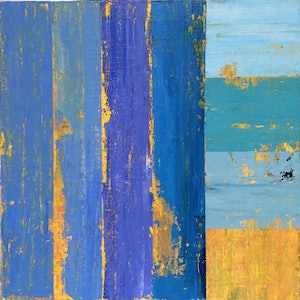 (CreativeWork) Blue Day by Greig Whitelaw. arcylic-painting. Shop online at Bluethumb.