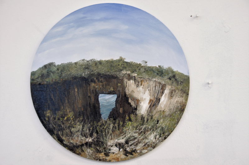 (CreativeWork) Tasman Arch by GEOFF WINCKLE. oil-painting. Shop online at Bluethumb.