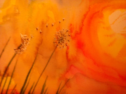 (CreativeWork) Under a Summer Sky  by Lynette Carroll. mixed-media. Shop online at Bluethumb.