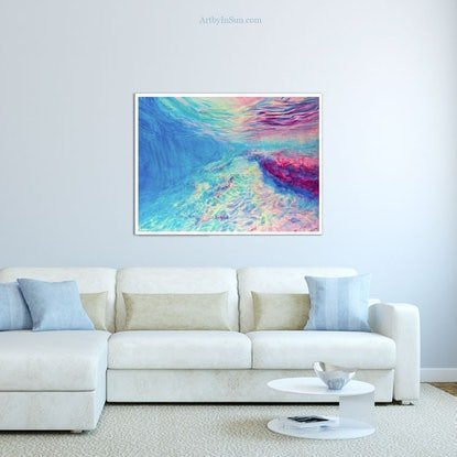 (CreativeWork) [Framed] Underwater Dreaming  Ed. 1 of 50 by In Sun Park. Reproduction Print. Shop online at Bluethumb.