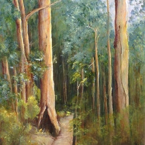 (CreativeWork) Bush Gossip by Marjorie Kay. arcylic-painting. Shop online at Bluethumb.
