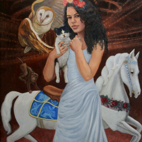 (CreativeWork) Once upon a Time by Lesley Shelley. Oil Paint. Shop online at Bluethumb.
