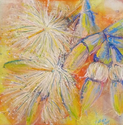 (CreativeWork) Early Morning On by Anthea Piszczuk. mixed-media. Shop online at Bluethumb.
