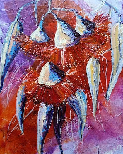 (CreativeWork) Don't Stop the Dance by Anthea Piszczuk. mixed-media. Shop online at Bluethumb.