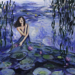 (CreativeWork) Lilly by Sara Riches. arcylic-painting. Shop online at Bluethumb.