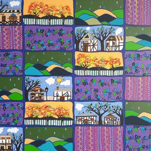 (CreativeWork) Hahndorf Adelaide Hills on gallery quality canvas  by Karen McKenzie. arcylic-painting. Shop online at Bluethumb.