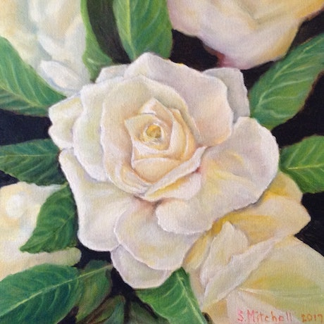 (CreativeWork) White Lightening by Sally Mitchell. Oil Paint. Shop online at Bluethumb.