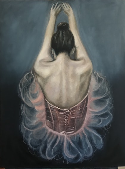 (CreativeWork) Keep going  by Renee O'Brien. oil-painting. Shop online at Bluethumb.