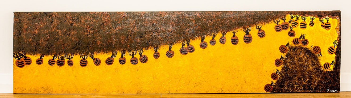 (CreativeWork) Honey Ant Dreaming by Janet Milera. Acrylic Paint. Shop online at Bluethumb.